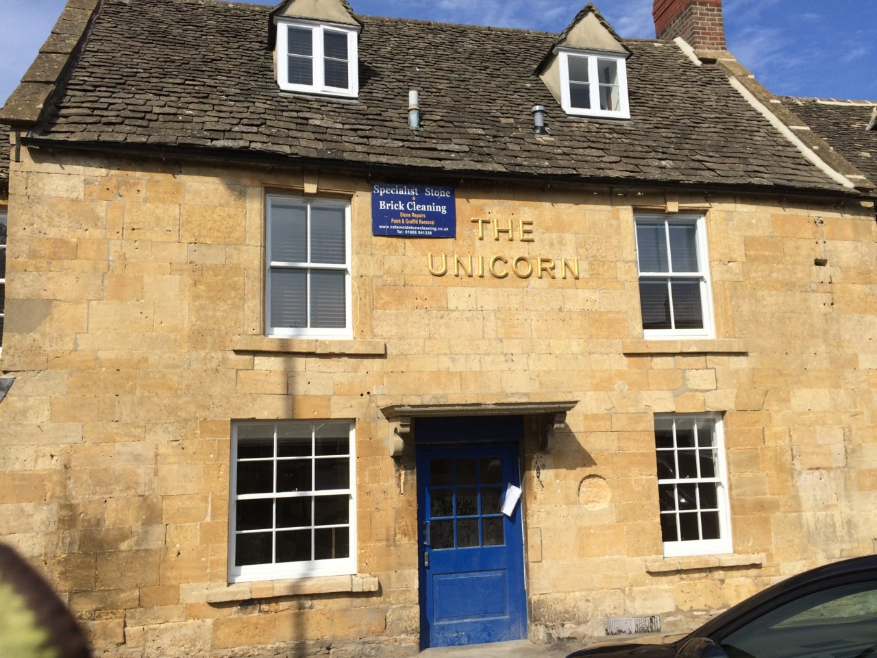 Cotswold Stone Cleaning – The Unicorn in Stow on the Wold After Cleaning