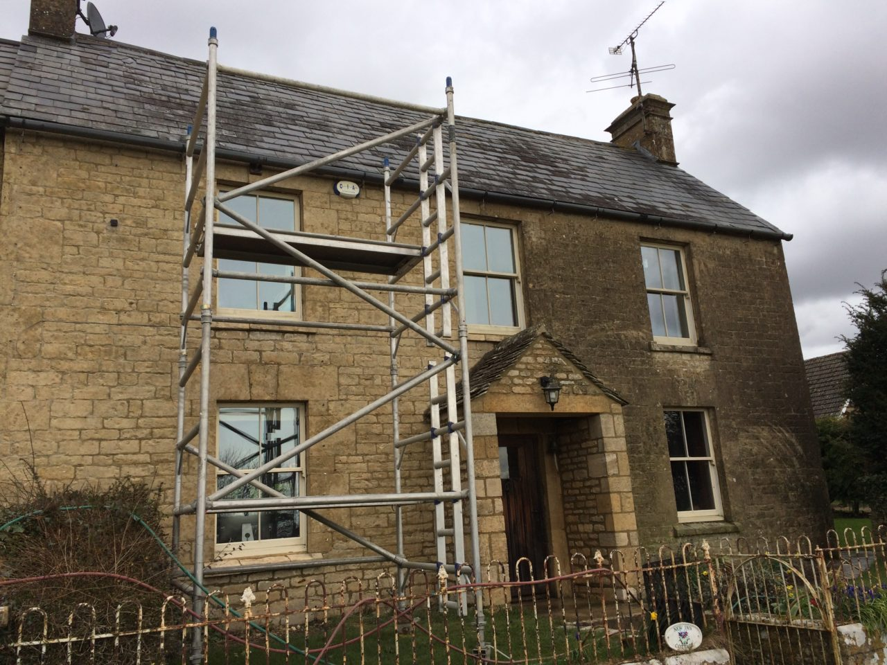 Cotswold Stone Cleaning – Winstone House, Cirencester Before Cleaning